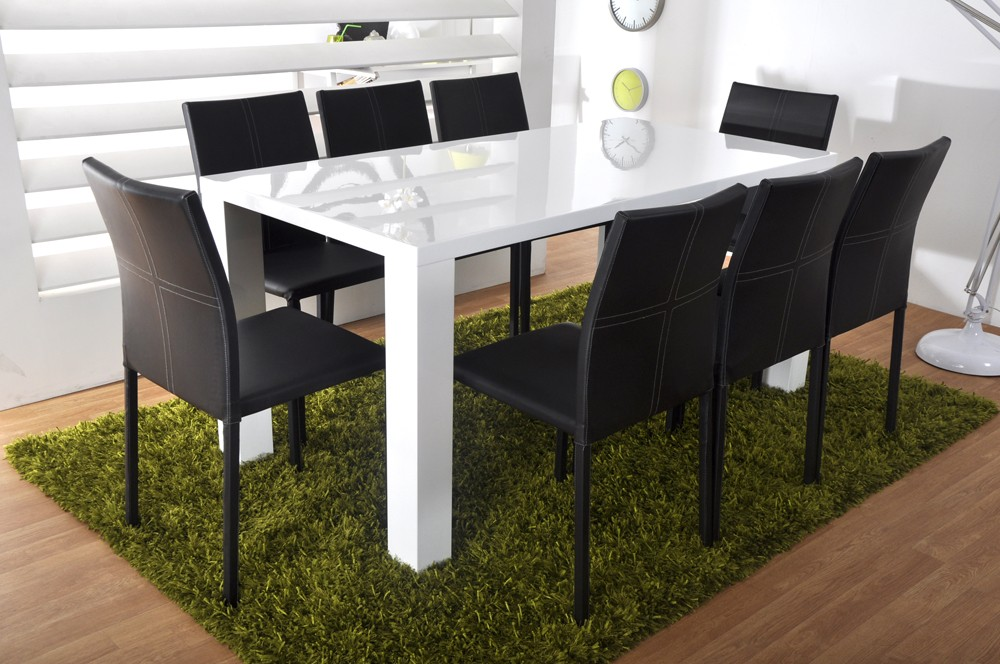 Table s jour mod le glos laque blanc meubles cahen for Table sejour